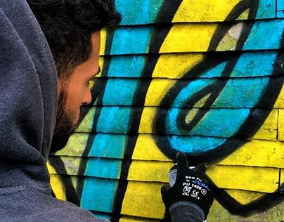 """Lettering Mural - """"Spring"""""""