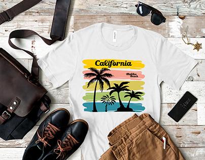 California Malibu T shirt Design