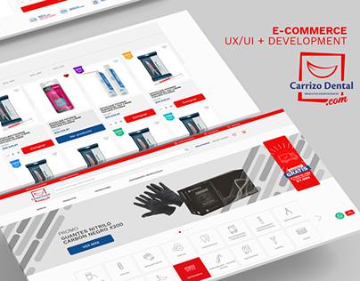 eCommerce UX/UI & Development | Carrizo Dental