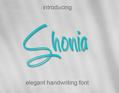 Shonia // Handwriting Font