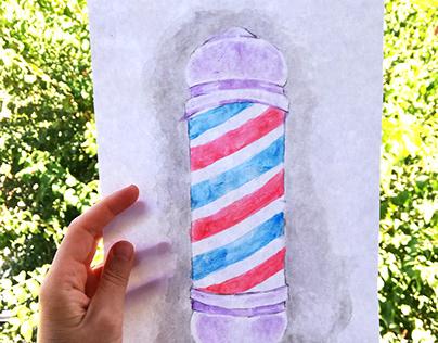 Barberpole (watercolor)