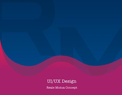 Reale Mutua idea of UX and UI concept