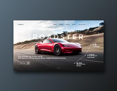 Recreation of Tesla's Webpage.
