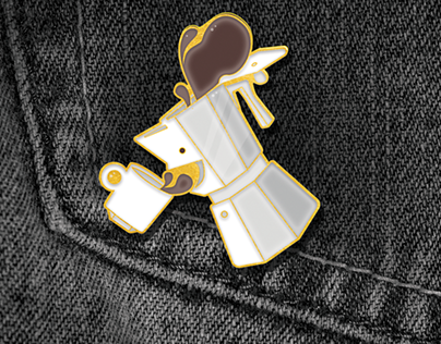 "Personal // ""I Want Coffee"" Pin"