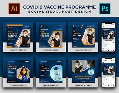 Covid19 Corona Virus Vaccination Social Media Template