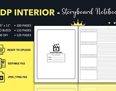 Blank Storyboard Notebook - KDP Interior Template