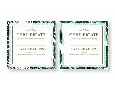 "Certificate ""zeNails"""