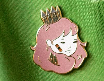 Merchandise | Enamel Pin + Tote Bag