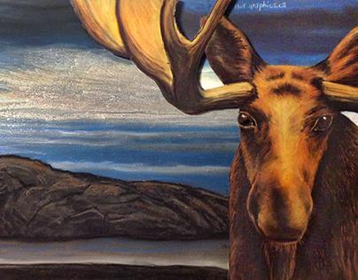 Canadiana Moosehead Lager illustration