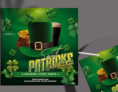 Saint Patricks Flyer Free PSD Template