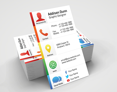 Creative Personal Business Card + PSD Freebie