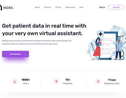 NORA Landing Page | Proof of Concept