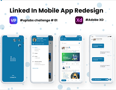 Linked In Mobile App Redesign - Uplabs Challenge 01