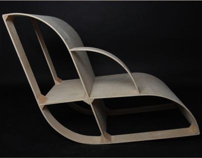 Birch Plywood Lounge Chair