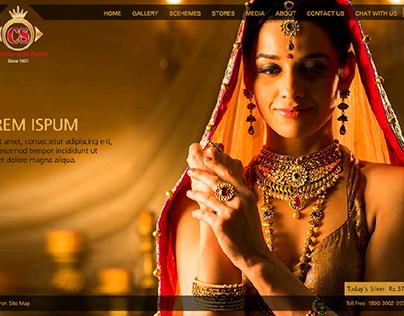 Microsite for Chandukaka Saraf Jewellers