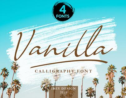 Vanilla -Free Font Family