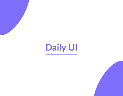 Daily UI Challenge (Ongoing)