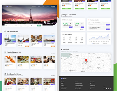Travely - City Travel Landing Page