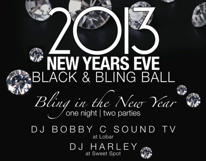 New Years Eve Poster for Sweet Spot & Lobar Restaurant