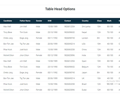 TBL - Bootstrap 4 Table Design