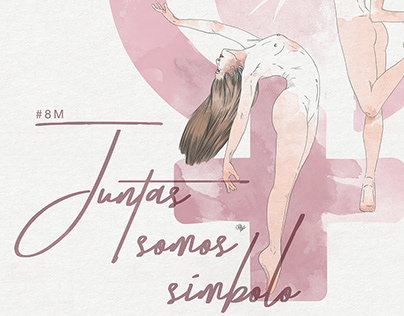 #8M - Juntas Somos Símbolo    Olatz Díaz Illustration