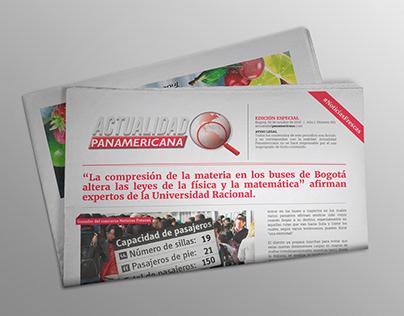 Primera edición impresa de Actualidad Panamericama