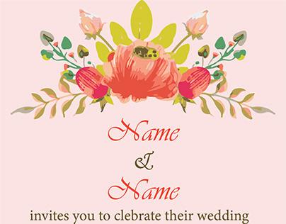 Weeding E card Invitation Template