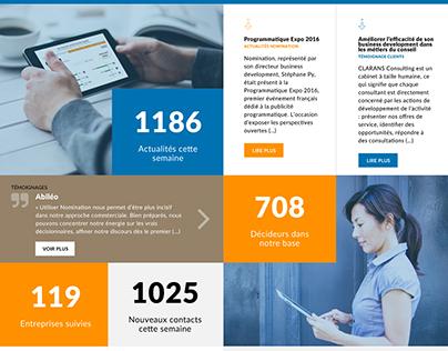 Webdesign - site d'expertise data