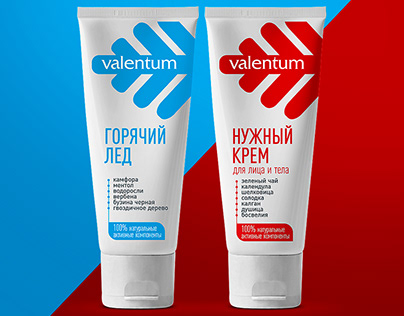 """Packaging redesign for the """"Valentum"""" creams series"""