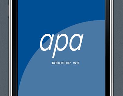 iPhone (iOS) app design for APA agency