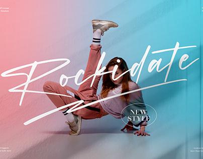 Rockidate - Stylish Signature Font