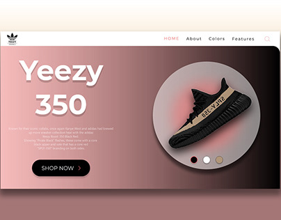 Yeezy landing page