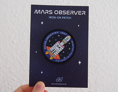 Mars Observer Iron-On Patch