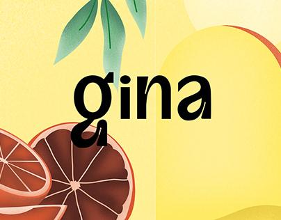 Gina - Boisson rafraîchissante à base de Gin
