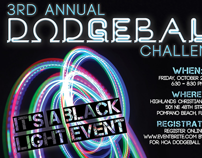 Postcard for HCA Dodgeball event in 2016