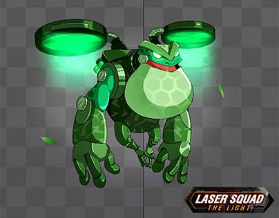 2018 - Spine Animation Project Laser Squad- FrogMonster