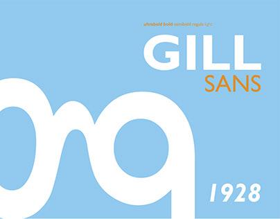 """Буклет """"История шрифта Gill Sans"""""""