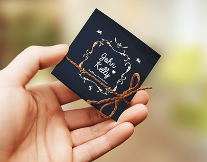 Mini Wedding Invitation Card
