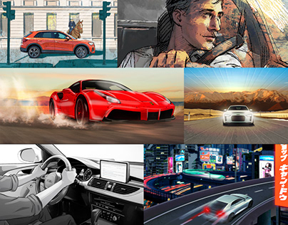 Cars advertising storyboards