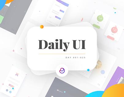 Daily UI Challenge   #001 - #025