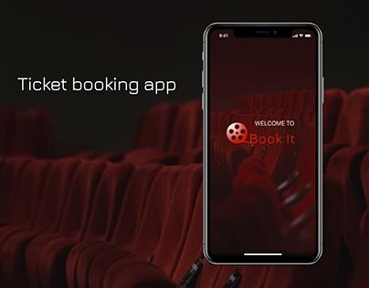 Ticket booking app design