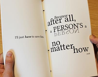Expressive Typography | Horton Hears a Who