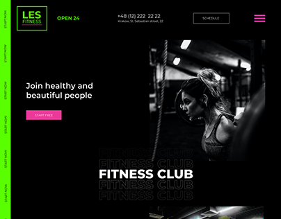 Project site for a fitness club
