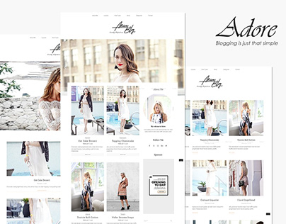 Adore - Beauty Fashion Blog Theme