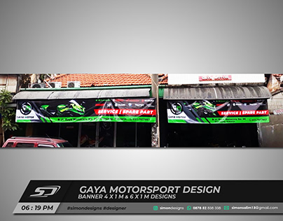 Gaya Motorsport Banner Design   Simon Designs