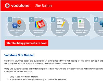 Vodafone Site Builder (2009)