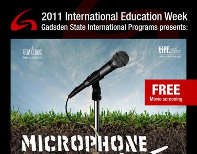 Microphone film screening poster (2012)