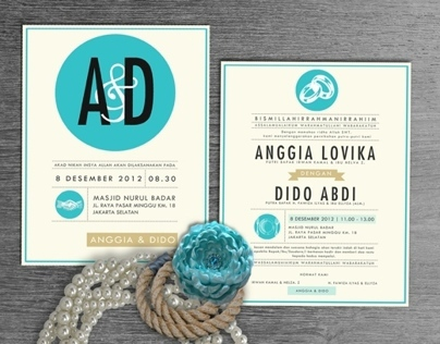 A Wedding Invitation - Anggia & Dido