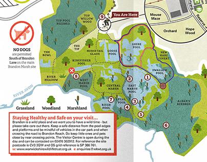 Brandon Marsh Nature Reserve Map