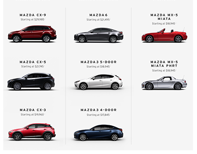Mazda USA || Homepage || UX Wires
